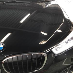 BMW F48 地デジチューナー TV 取付 の画像